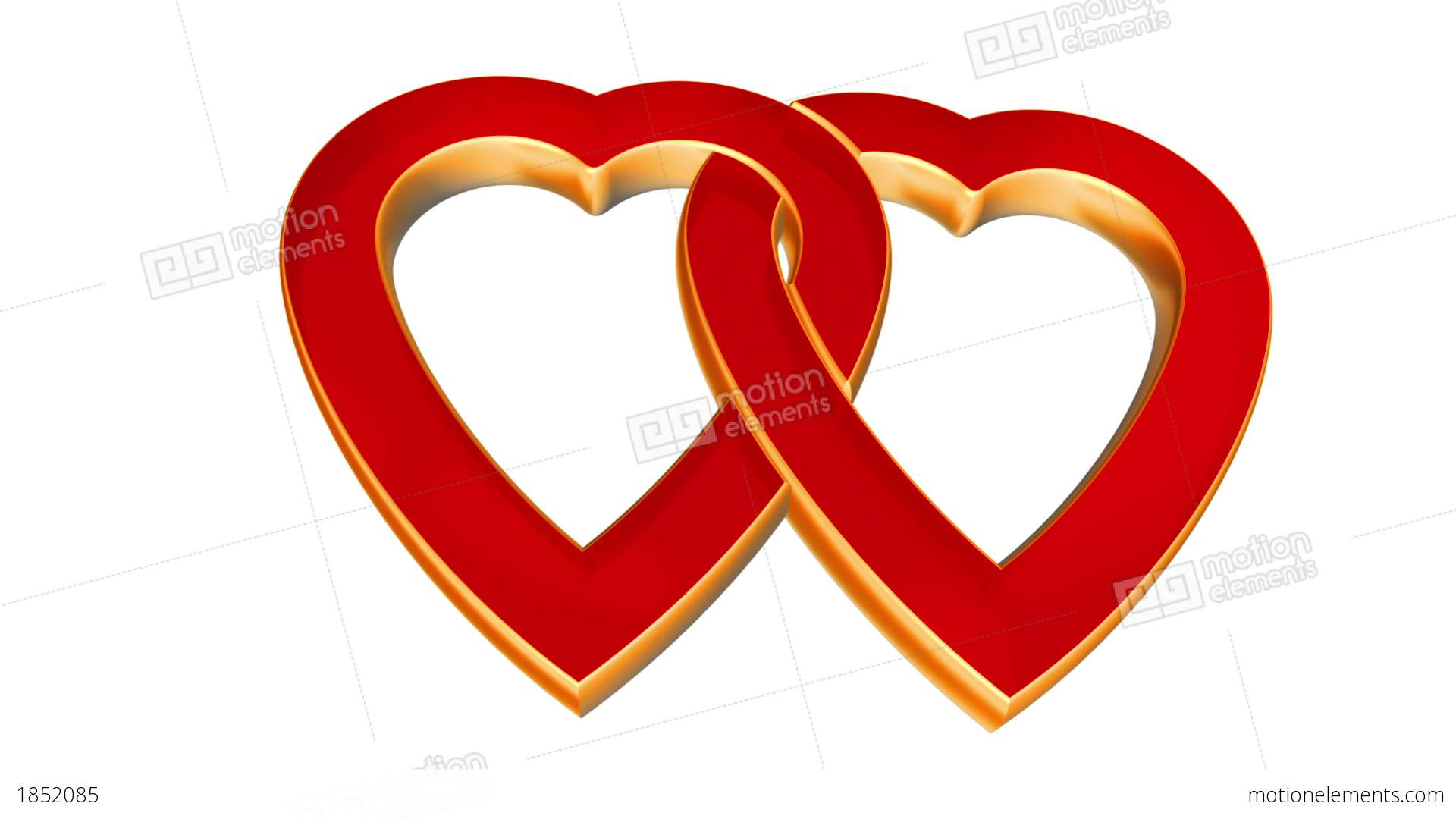 Transparent Flying Love Hearts Wedding Animation