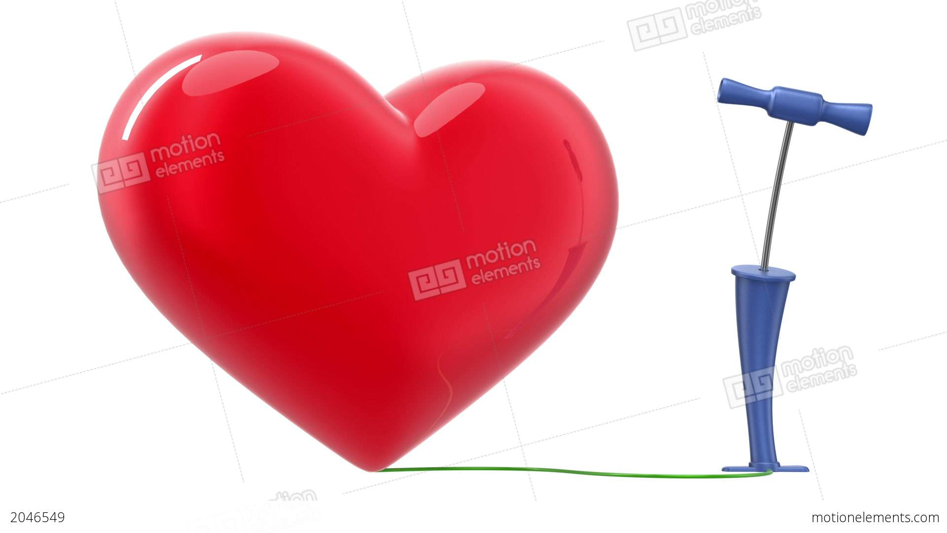 Pumping Up A Heart Alpha Mask Hd Stock Animation