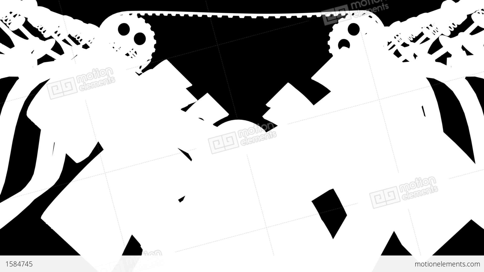 V12 Engine Front Animation Loop Alpha Hd Stock Animation
