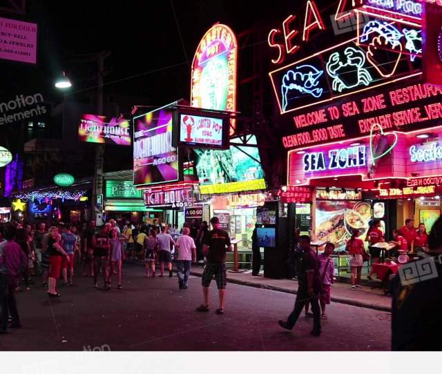 Walking Street Red Light District In Pattaya Thailand Stock Video Footage