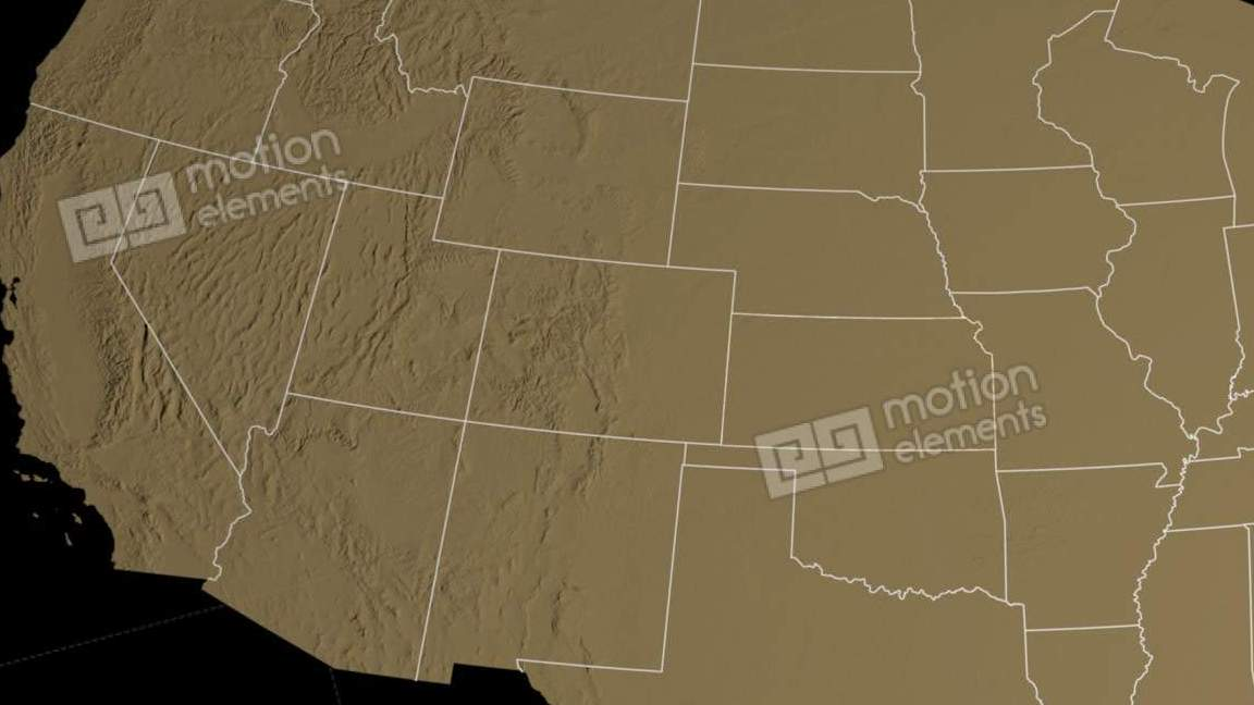 HD Decor Images » Kansas State  USA  Extruded On The Elevation Map O Stock Animation     Kansas state  USA  extruded on the elevation map o Stock Video Footage