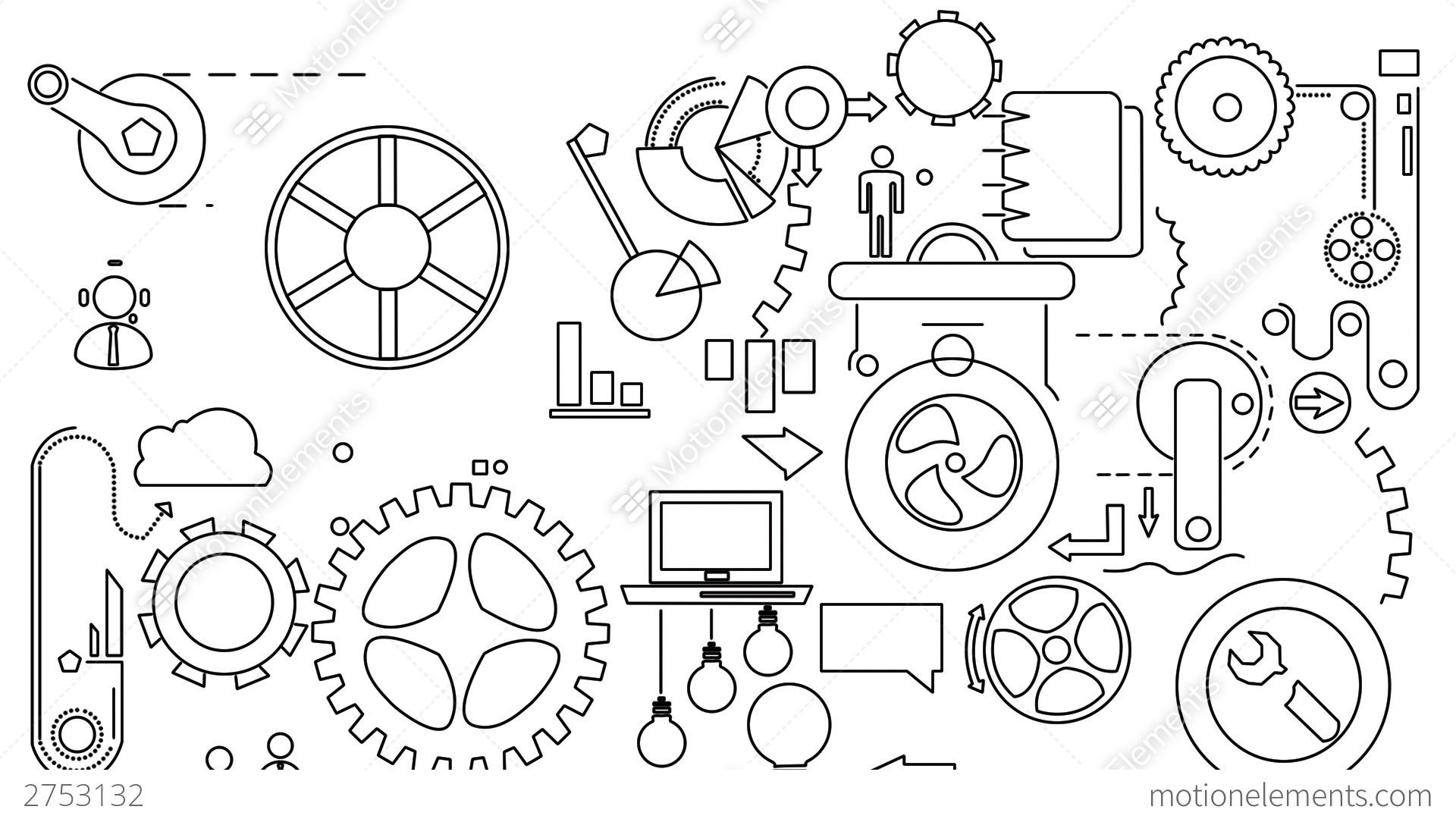 Animated Mechanization Stock Animation
