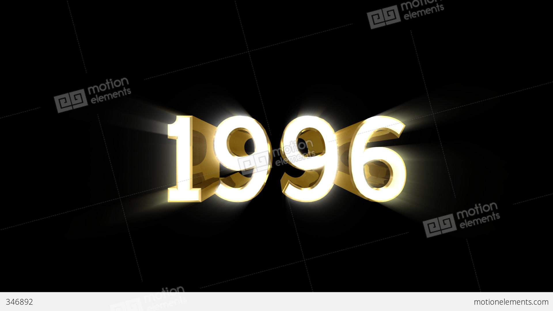 Year 1996 A HD Stock Animation