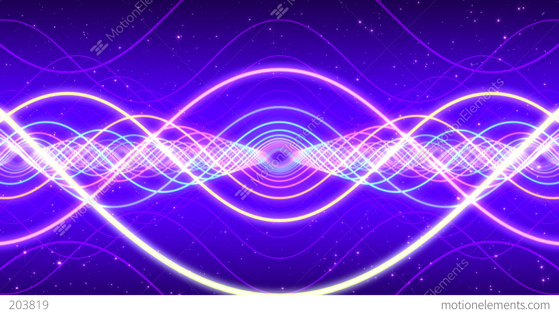 Light Waves Stock Animation