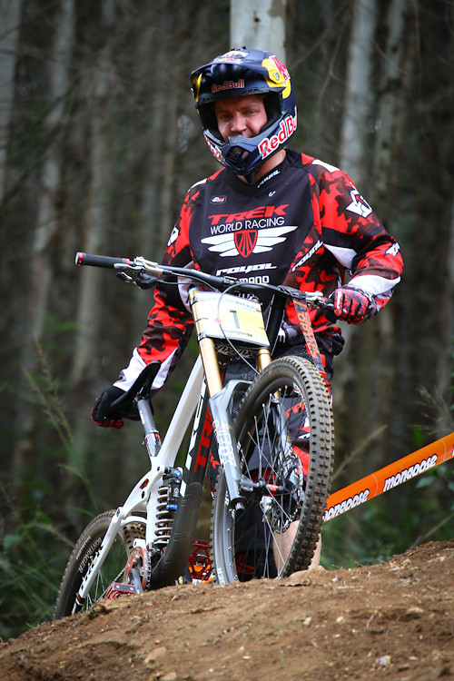 Aaron Gwin with his Red Bull Helmet - iamcycho - Mountain Biking Pictures - Vital MTB