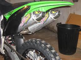 kx250f dual exhaust project bike