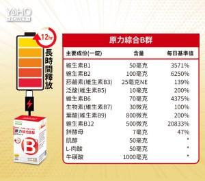 悠活原力,綜合,維生素,B群,緩釋膜衣錠,60粒,瓶,yoho power,60 pcs,bottle