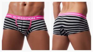 g-station,stripe,enhancing bulge,low waist,boxers,underwear