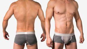 好屌型,條紋,四角褲,男內褲,enhancing bulge,stripes,boxers,underwear