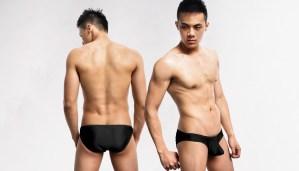 柔滑,金屬感,前凸,低腰,三角褲,男內褲,silky,metallic,low waist,briefs,undewear