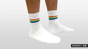 彩虹,半筒,運動,襪,rainbow,socks,sports,ks5905
