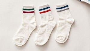 雙條紋,紳士襪,double stripe,socks,ksf002