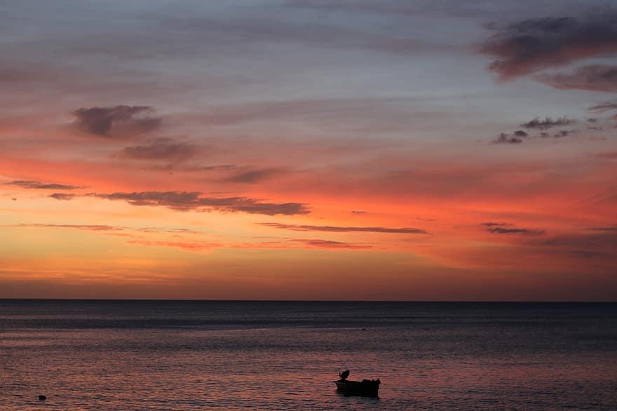 soir horizon martinique soleil