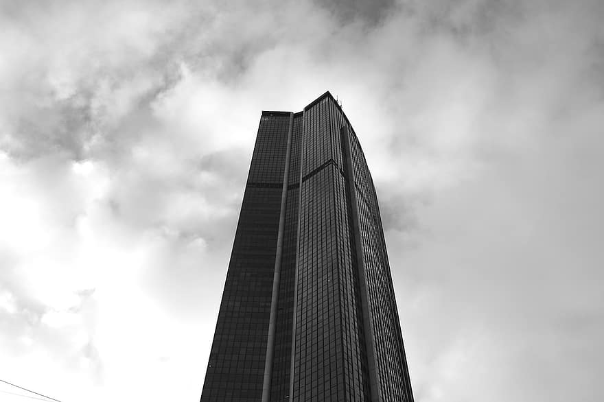 Montparnasse Tower Paris France Black White Glass Tower Monuments Capitals Architecture Heritage City Pikist