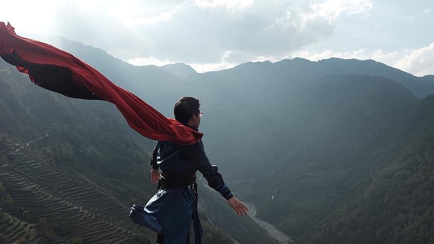 drstrange、山岳、スーパーヒーロー、エピックビュー、ネパール