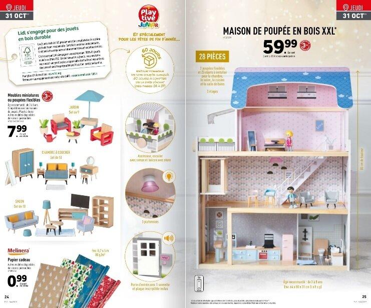 le catalogue de jouets en bois de noel
