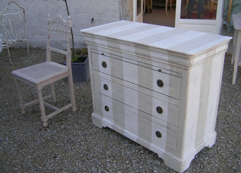 COMMODE LOUIS PHILIPPE RELOOKEE PATINES ET CIE