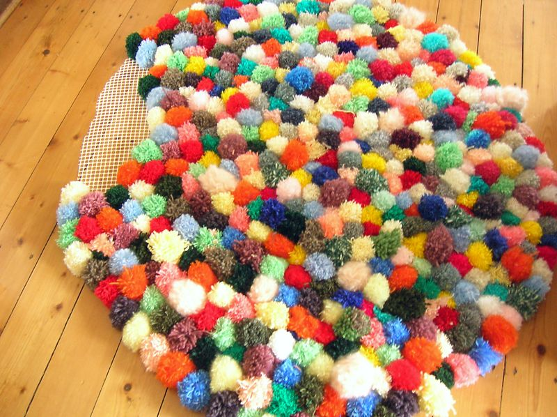 diy mon tapis toutenpompons piu