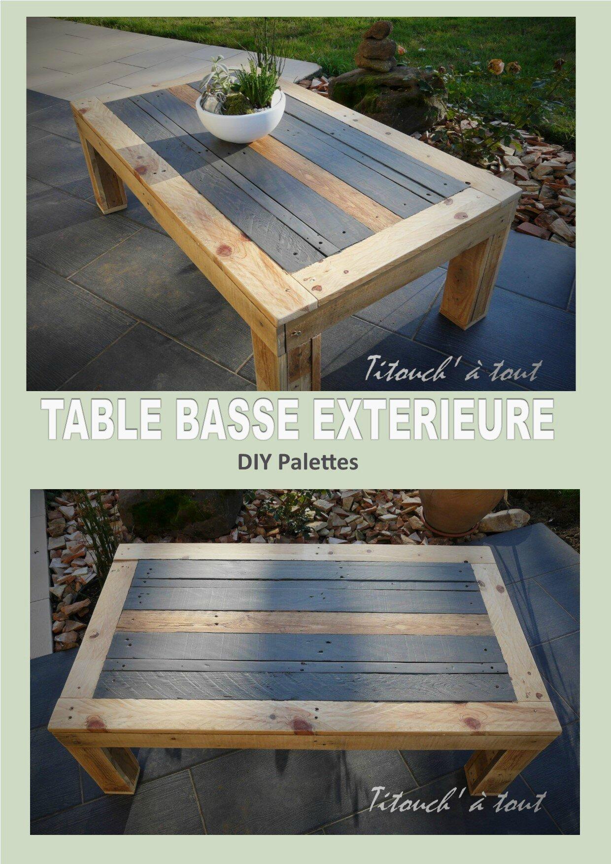 table basse exterieure en palettes
