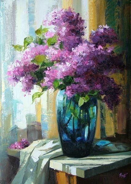 Art Nouveau Flower Paintings