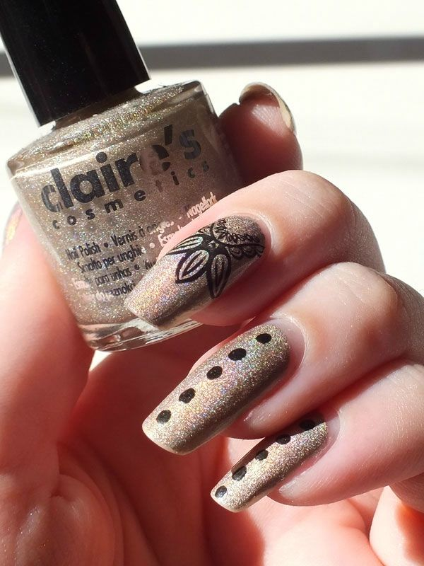 manucure-nail-art-holographic-holographique-claires-taupe-kiko-dupe-konad-bundle-monster-BM-212-dotting-tool-swatch-test (1)