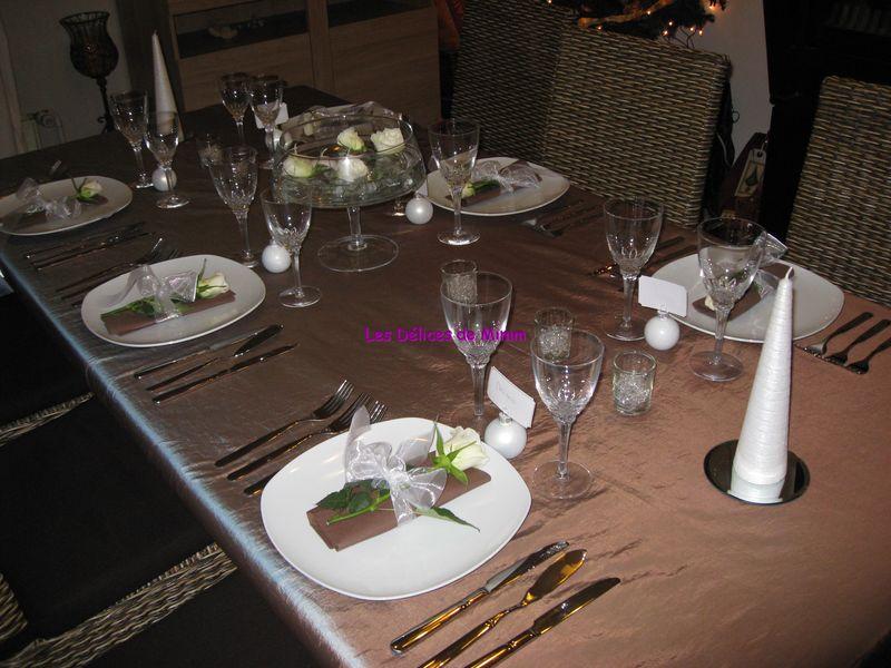 Table De Rveillon Chocolat Et Marron Glac Les