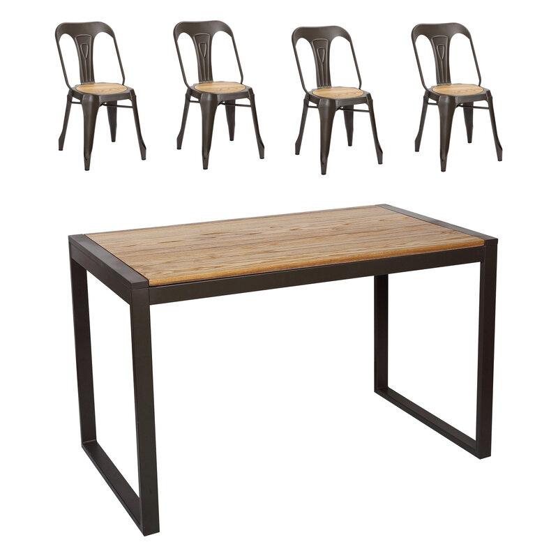 chaises de repas loft industrielle