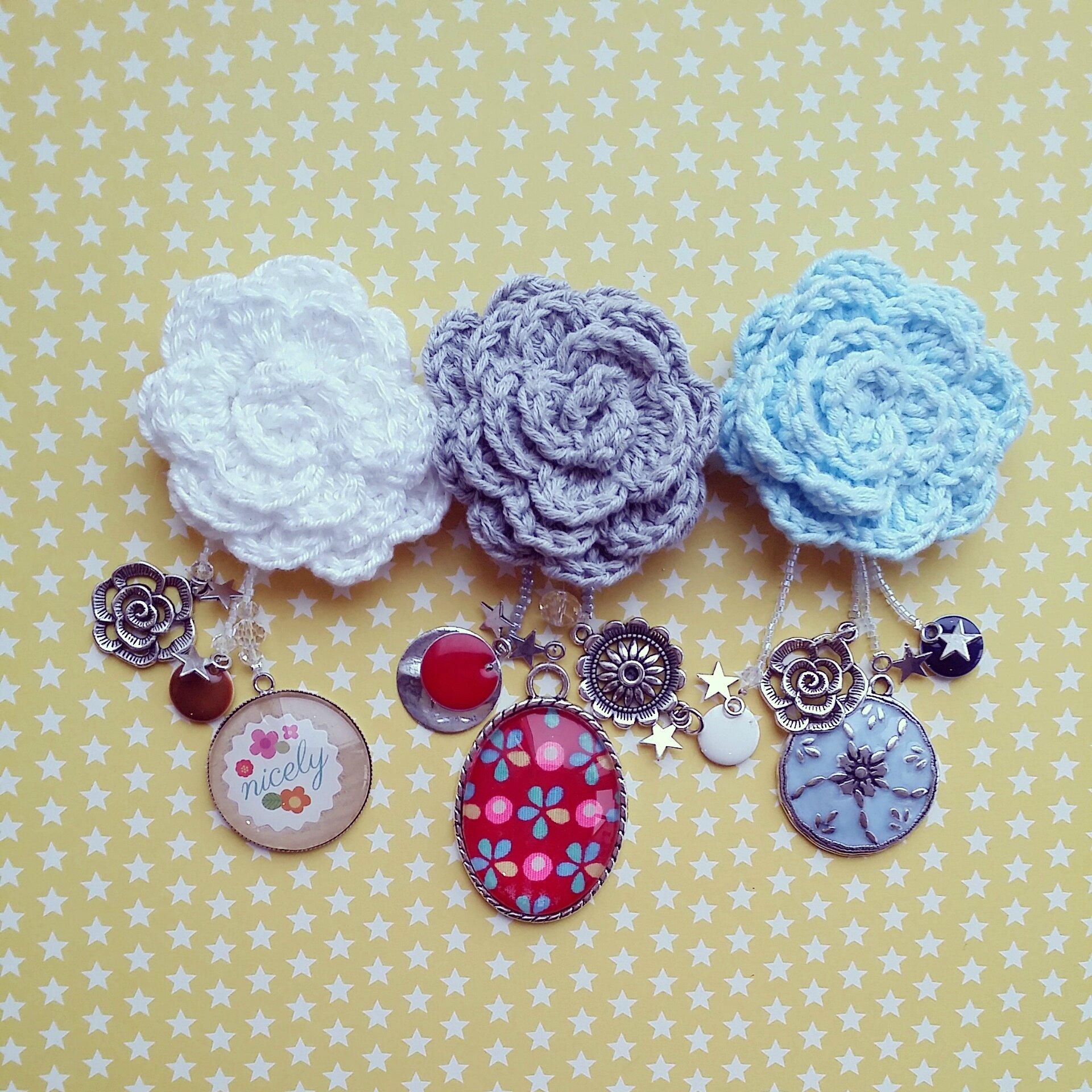 Tuto De Mon Chale Rouge En Crochet Avec Sa Petite Broche