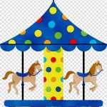 Baby Watercolor Paint Wet Ink Carousel Horse Silhouette Amusement Ride Transparent Background Png Clipart Hiclipart