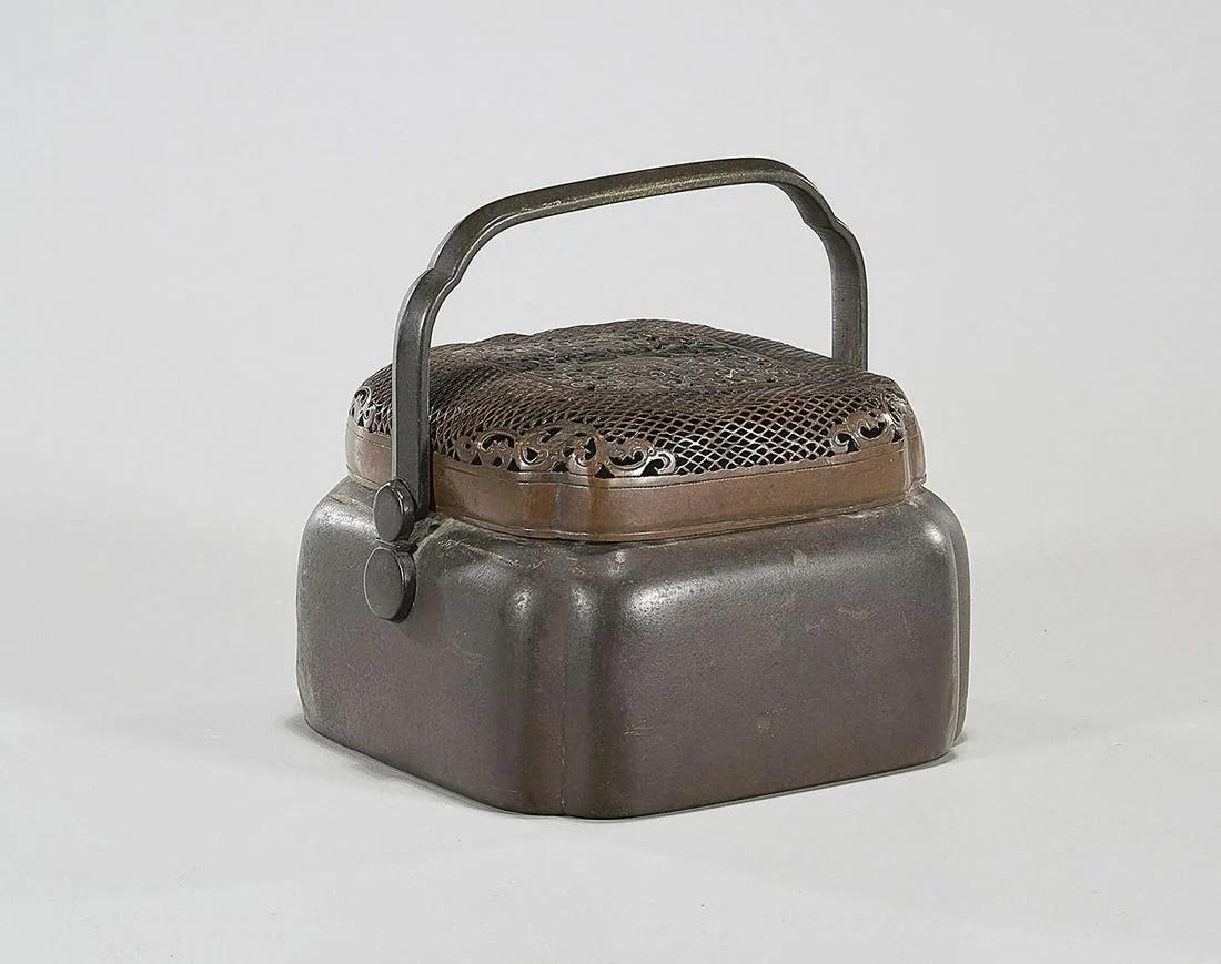 Antique Korean Bronze Hand Warmer