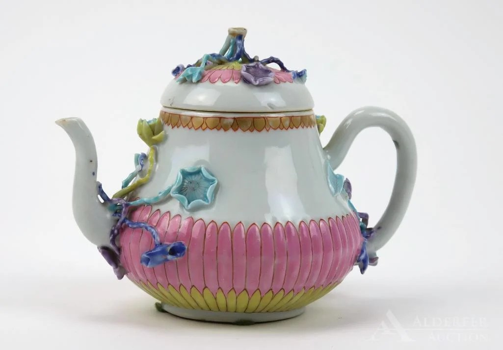 "Chinese Famille Rose ""Chrysanthemum\"" Teapot"