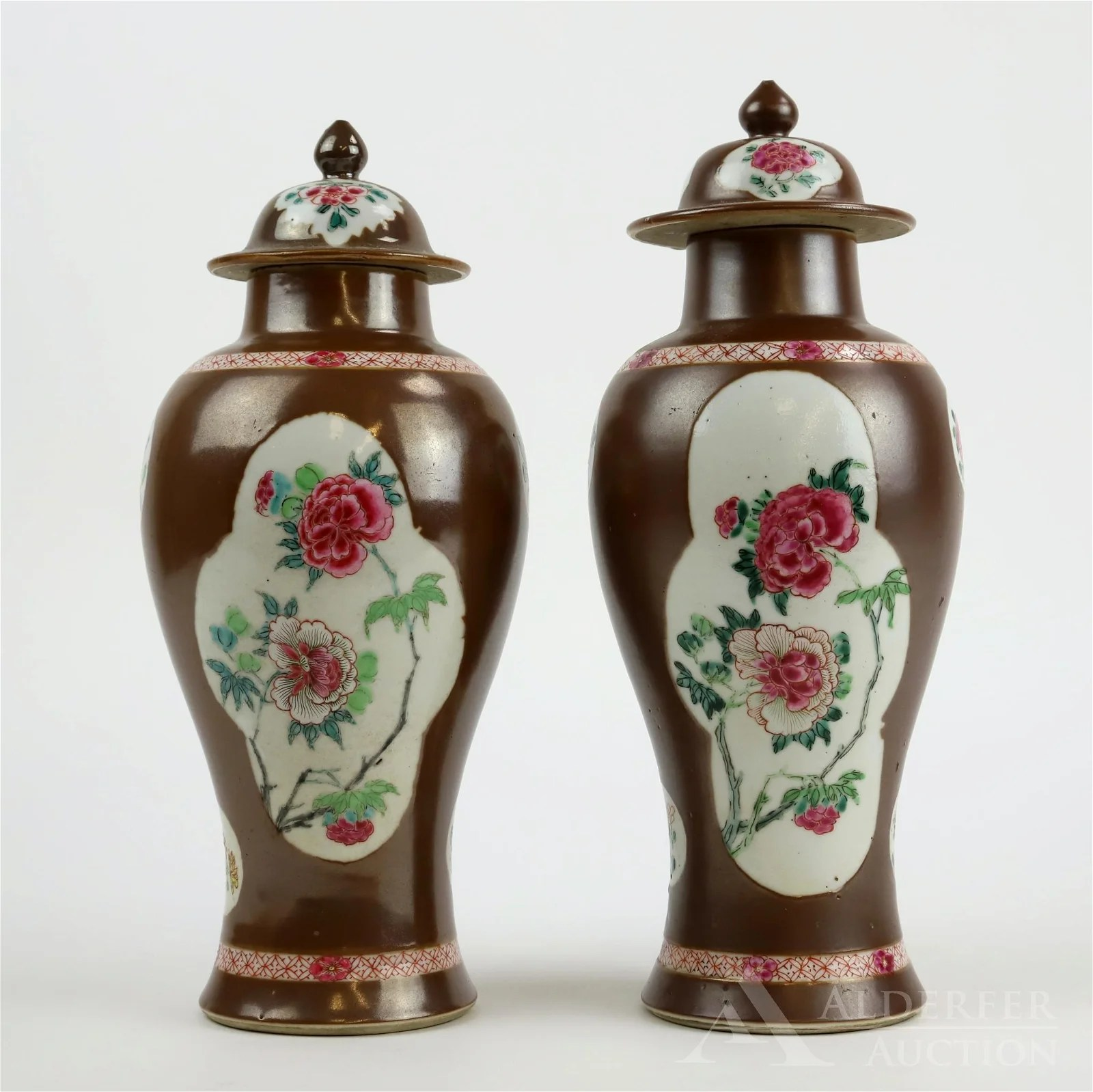 Chinese Export Covered Urns