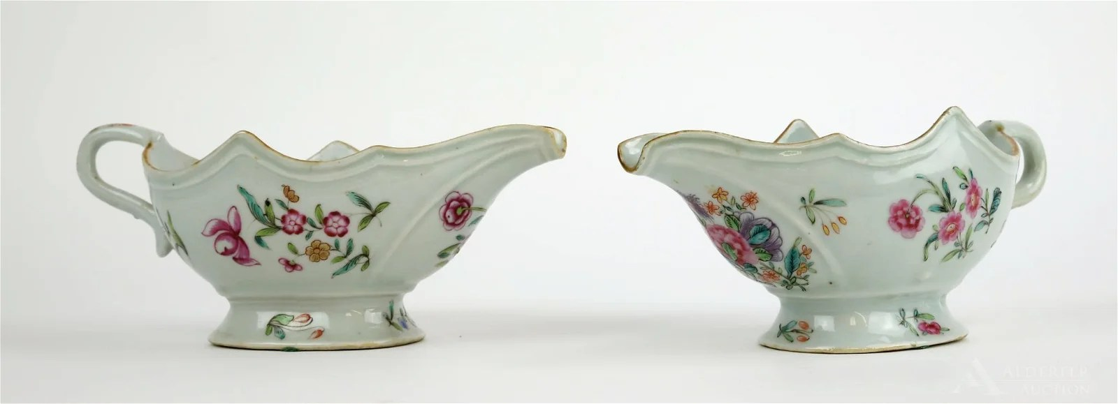 18th c. Chinese Export Sauce Boats
