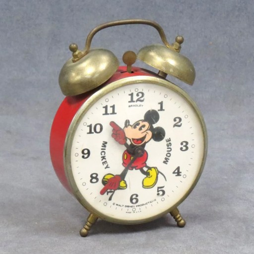 Bradley Mickey Mouse Alarm Clock