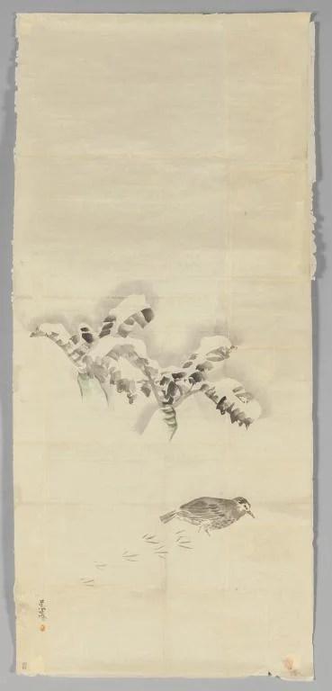 """Matzumura Goshun (1752-1811) \""""Uccellino che"""