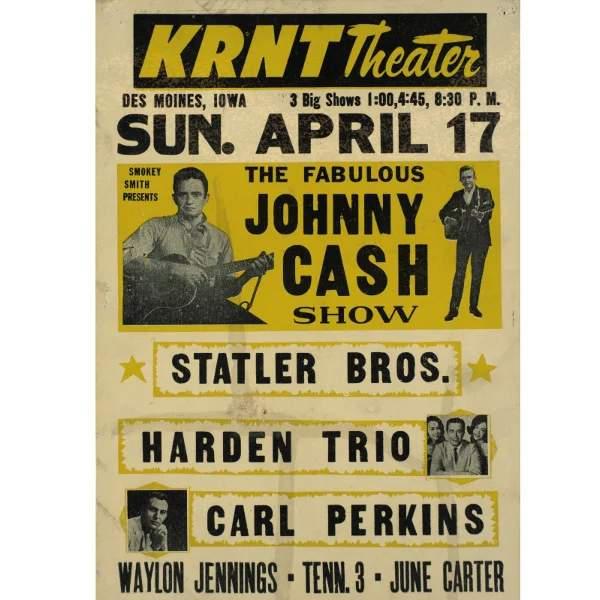 93 original concert poster of the fabulous johnny cash