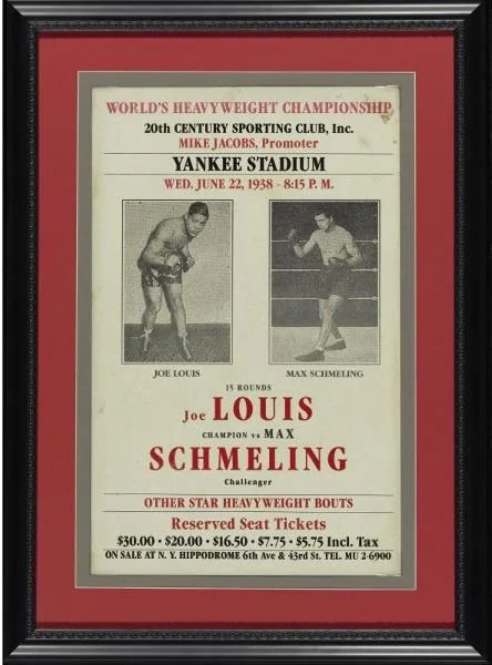 1938 York Joe Vs Louis New Schmeling City Max
