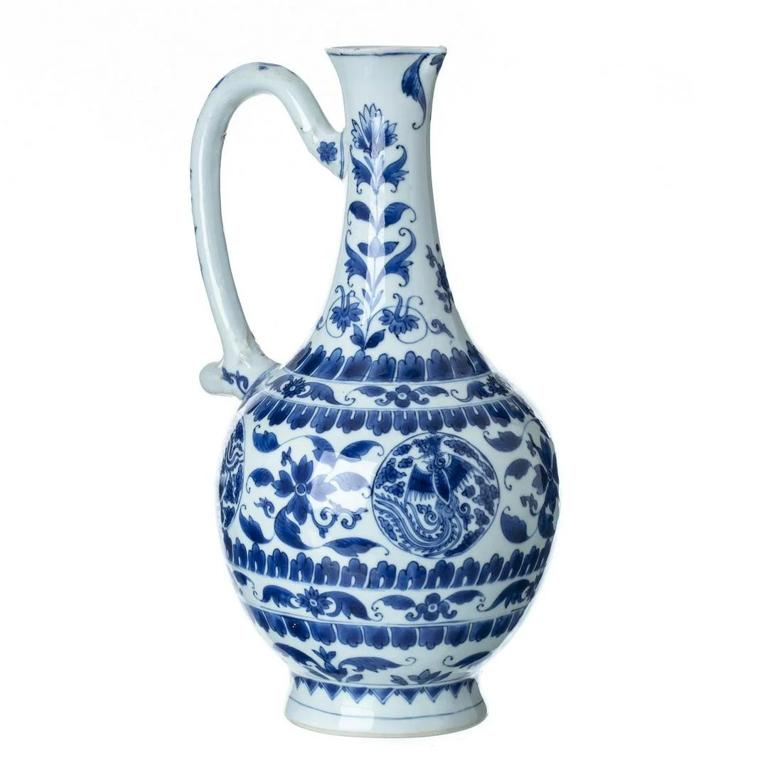 Chinese porcelain wine pitcher, Ming