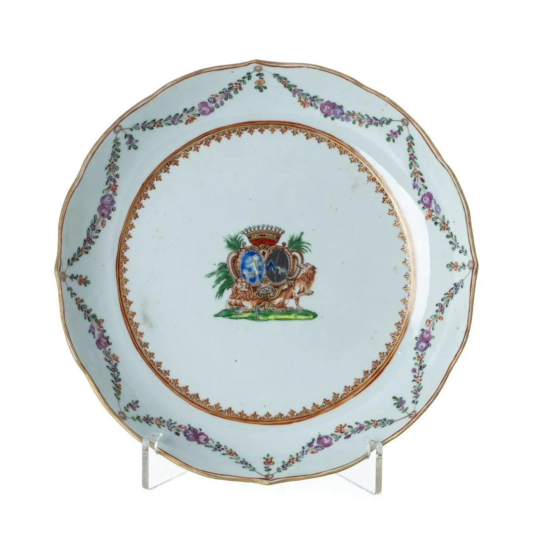 Chinese export Armorial plate, Qianlong