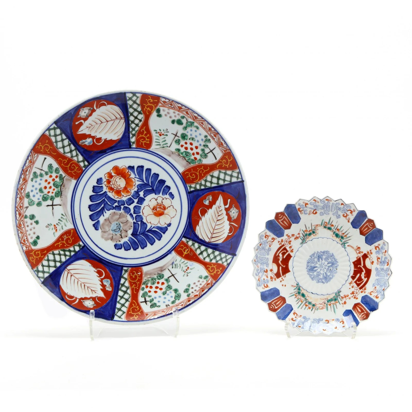A Japanese Imari Porcelain Charger and Plate