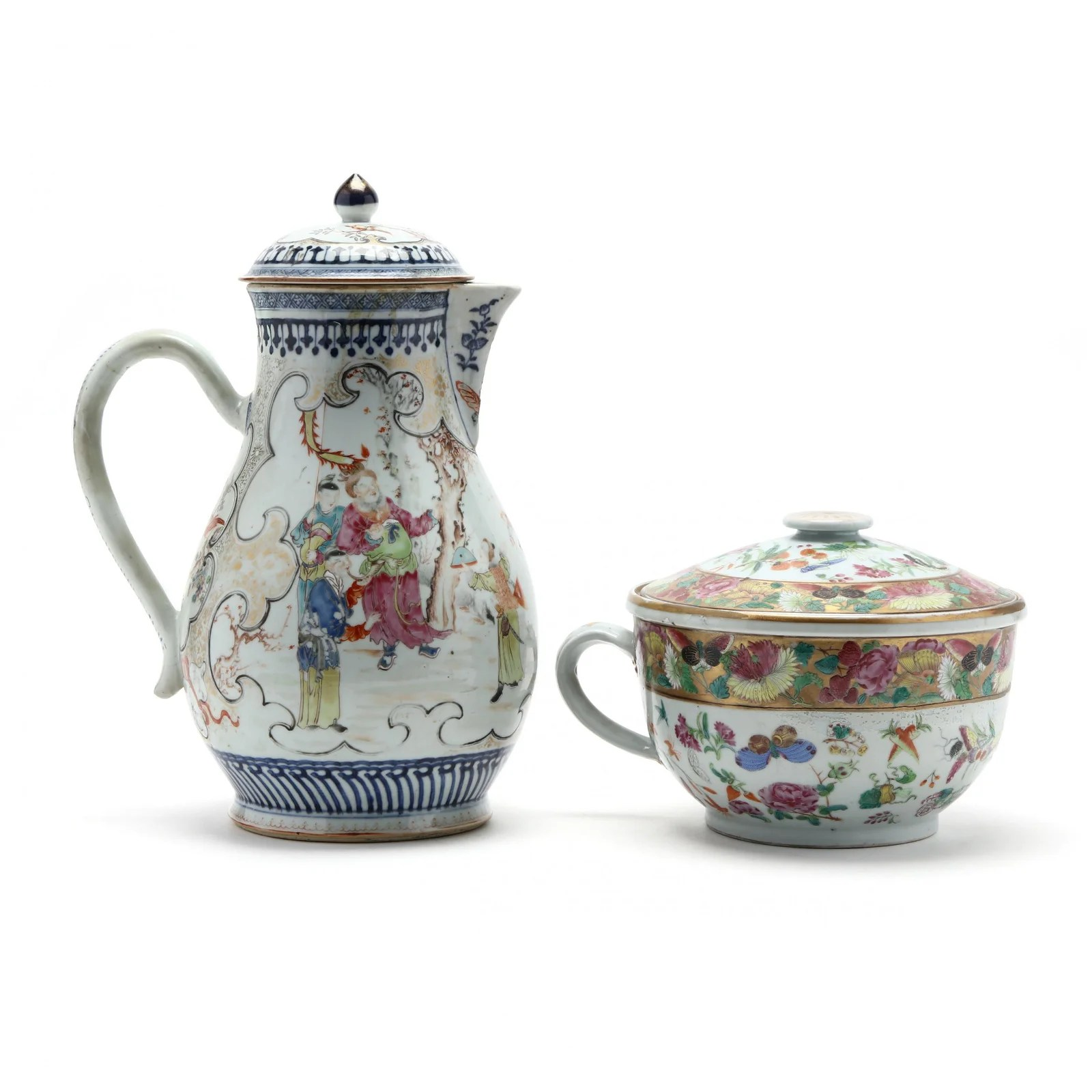 Two Chinese Export Porcelains, Cider Jug and Cover and