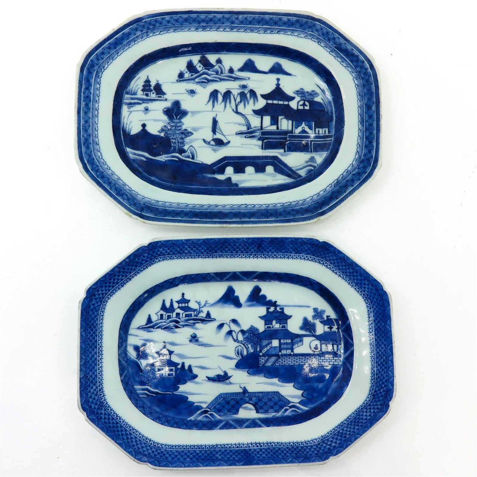 A Pair of Chinese Serving Platters