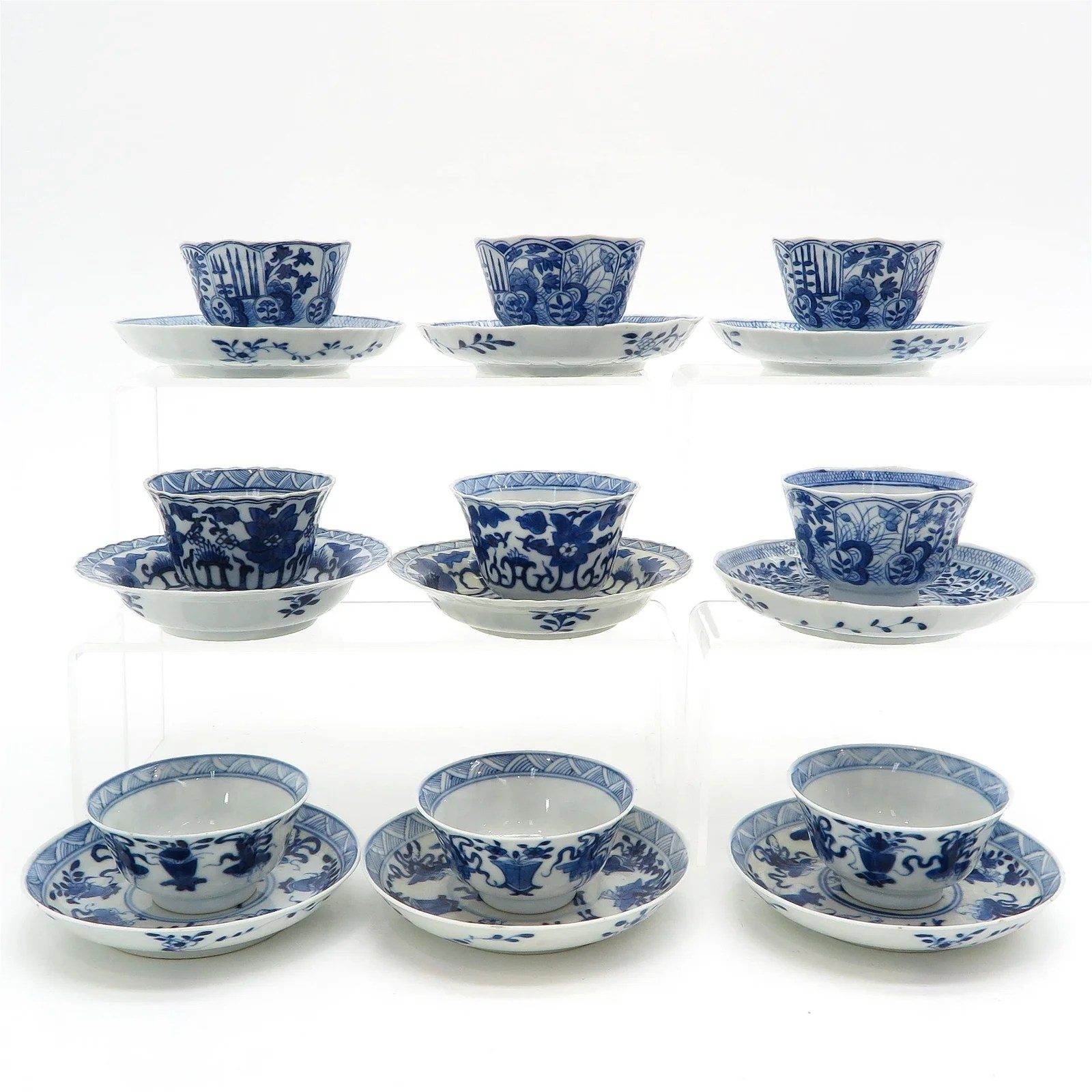 A Diverse Collection of Chinese Cups and Saucers