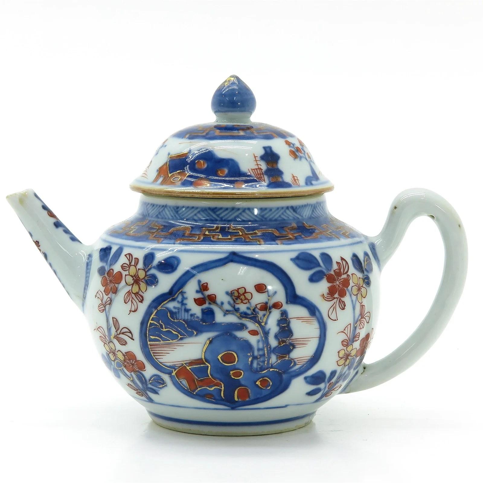 A Chinese Imari Teapot