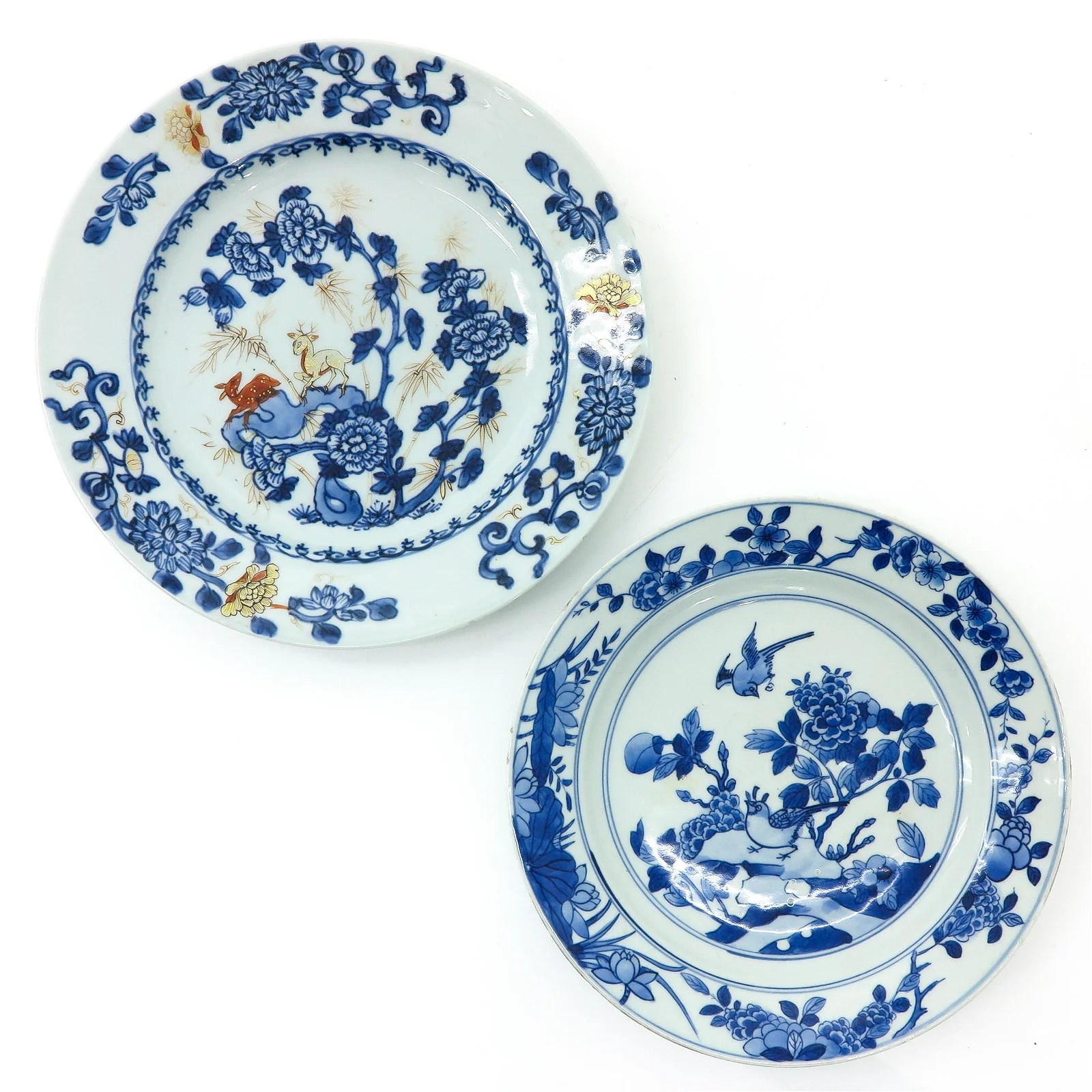 Two Chinese Blue and White Plates