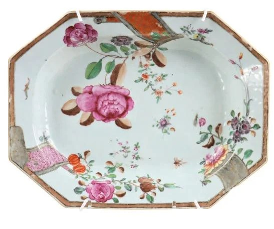 18th C Chinese Export Famille Decorated Platter
