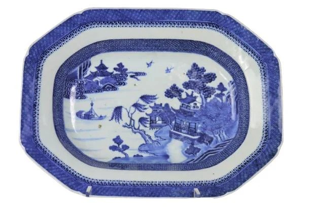 19th C Blue & White Chinese Export Platter