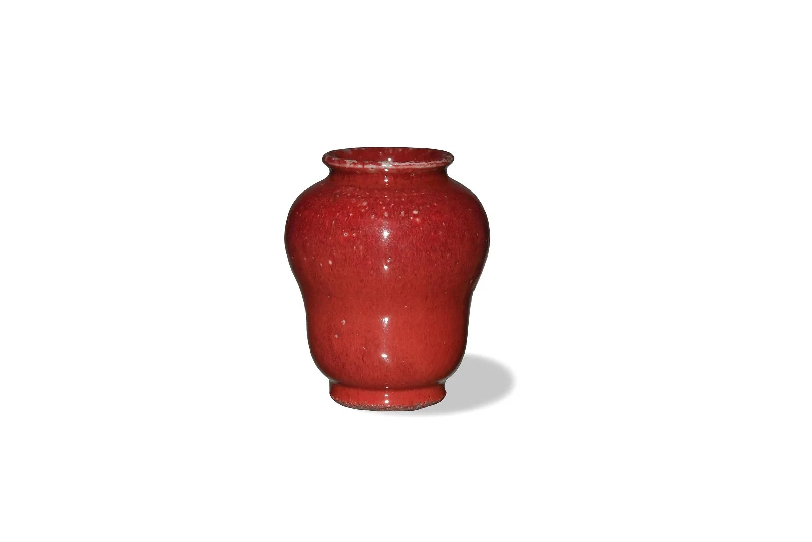 Chinese Red Glazed Jar, Early 19th Century