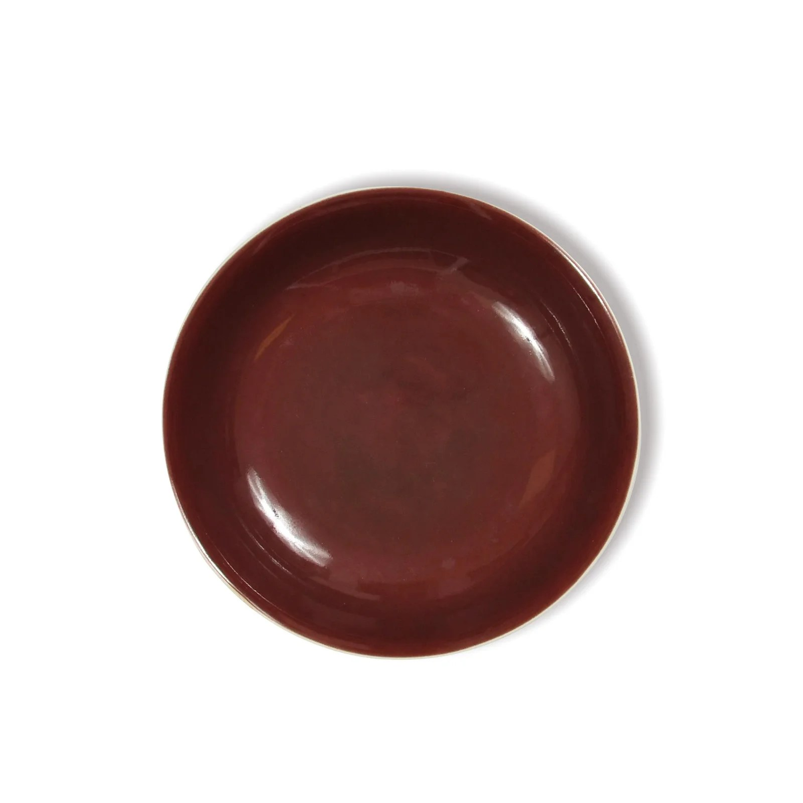 Chinese Red Glazed Dish with Box, Daoguang