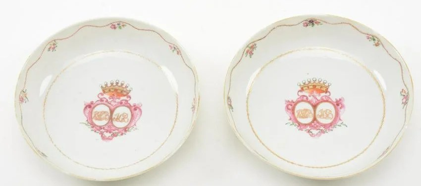 18th Century Chinese Export Porcelain Saucers